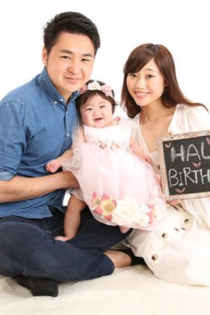 平成31年・ハーフバースデイ・6か月お誕生日撮影・家族写真