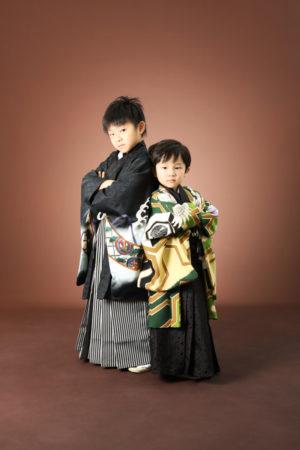 本八幡 市川市 七五三 5歳 前撮り 兄弟 袴 記念写真