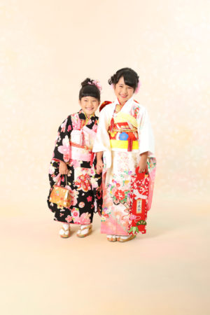 本八幡 市川市 七五三 7歳 前撮り 姉妹 記念写真