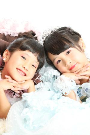 本八幡 市川市 七五三 7歳 前撮り ドレス 姉妹 記念写真