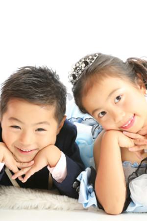 本八幡 市川市 七五三 7歳 5歳 姉弟 ドレス タキシード