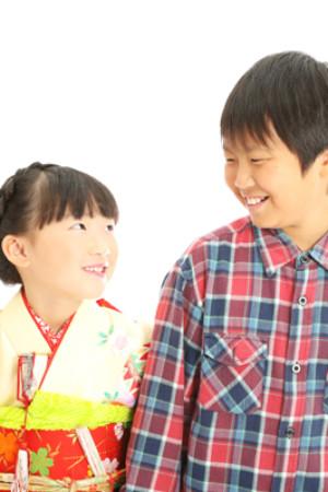 本八幡 市川市 七五三 7歳 兄妹写真 家族写真 記念写真
