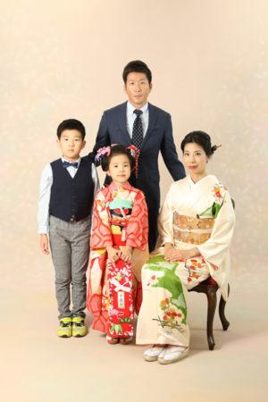 本八幡 市川市 七五三 7歳 家族写真 前撮り 日本髪