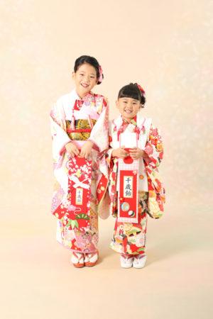 本八幡 市川市 七五三 7歳 5歳 前撮り 姉妹 記念写真