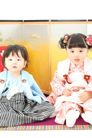 本八幡 市川市 七五三 3歳 前撮り 姉弟写真 家族写真