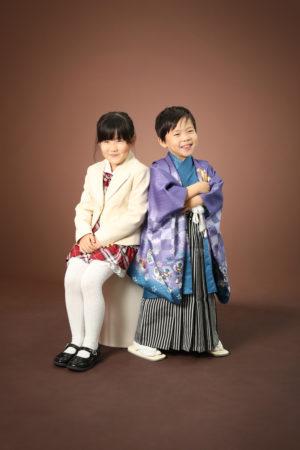 本八幡 市川市 七五三 5歳 姉弟写真 前撮り