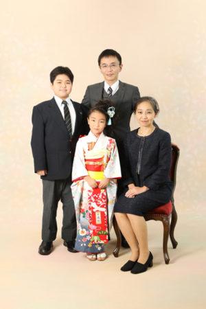 本八幡 市川市 七五三 7歳 前撮り 家族写真