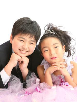 本八幡 市川市 七五三 7歳 前撮り ドレス 兄妹写真 記念写真