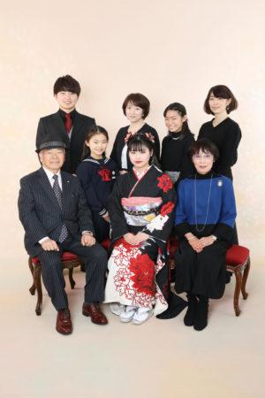本八幡 市川市 成人式 二十歳 前撮り 振袖 家族写真 記念写真