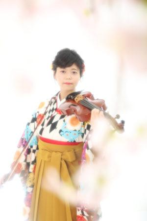 本八幡 市川市 卒業袴 前撮り 卒業式 バイオリン