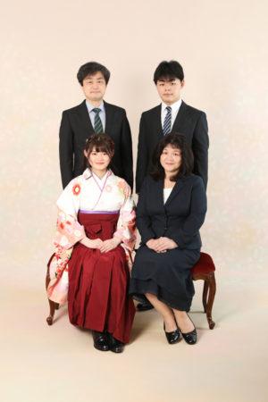 本八幡 市川市 卒業袴 前撮り 家族写真 記念写真 卒業式