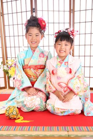 江戸川区 七五三 3歳 7歳 前撮り ご姉妹