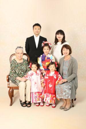 本八幡 市川市 七五三 前撮り 家族写真 記念写真 7歳 3歳 双子