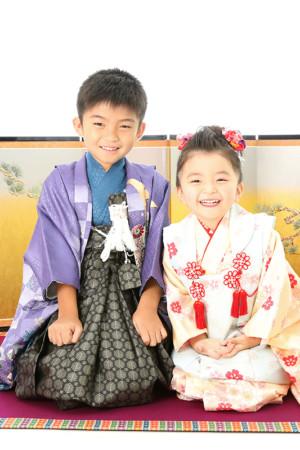 本八幡 市川市 七五三 5歳 3歳 兄妹 前撮り 家族写真