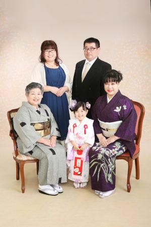 江戸川区・令和2年・七五三・3歳・ご家族写真