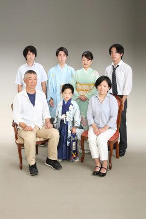 江戸川区・成人式男性羽織袴・5歳・前撮り・ご家族写真