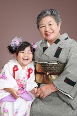 江戸川区・令和2年・七五三・3歳・お祖母様と着物