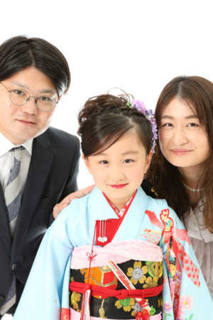 本八幡 市川市 七五三 7歳 前撮り 家族写真 記念写真