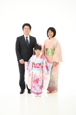 本八幡 市川市 七五三 七歳 家族写真 記念写真 前撮り