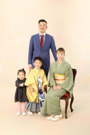 本八幡 市川市 七五三 家族写真 5歳 前撮り