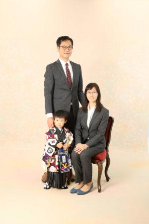 本八幡 市川市 七五三 3歳 男の子 前撮り 家族写真 記念写真