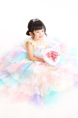 令和2年 江戸川区 七五三 3歳 ドレス