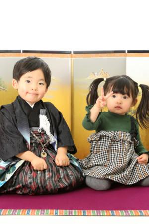本八幡 市川市 七五三 3歳 男の子 前撮り 兄妹 家族写真 記念写真