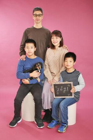 江戸川区 令和2年 ご家族写真 年賀状