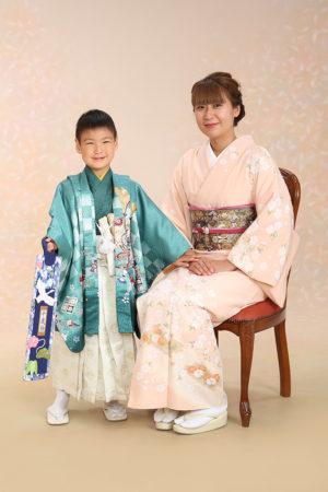 江戸川区 令和2年 七五三 5歳前撮り 着物でご家族写真