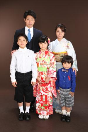 江戸川区 令和2年 七五三 7歳前撮り 着物でご家族写真