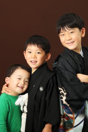 本八幡 市川市 七五三 五歳 前撮り 兄弟 家族写真