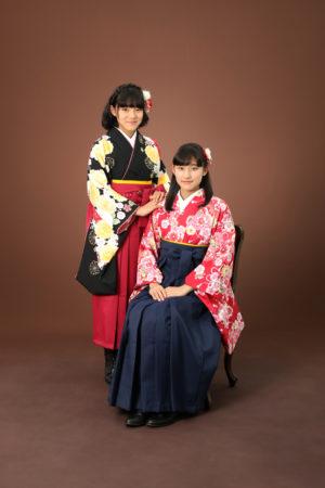 本八幡 市川市 卒業袴 卒業式 小学生 前撮り 姉妹 記念写真