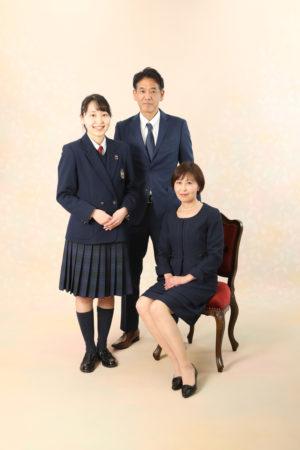 本八幡 市川市 卒業式 家族写真 記念写真