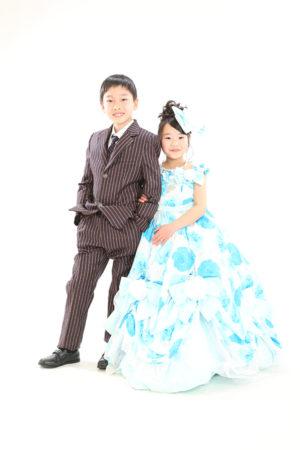 江戸川区 七五三 7歳前撮り ドレス ご兄妹
