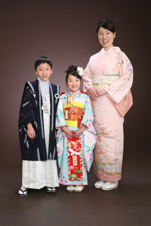 江戸川区 七五三 7歳前撮り 着物 ご家族