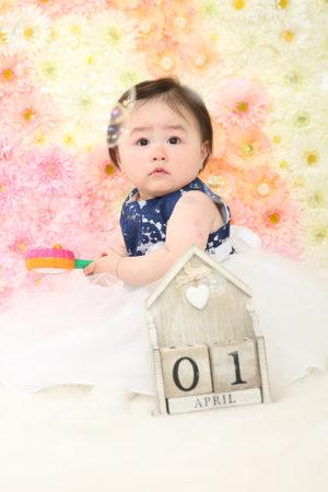 江戸川区 1歳 誕生日 記念写真