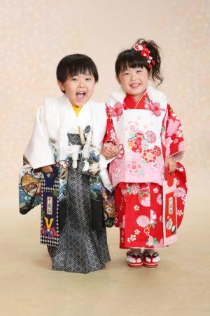 江戸川区 七五三 3歳前撮り 着物 双子