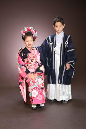 江戸川区 七五三 7歳前撮り 着物 ご兄妹