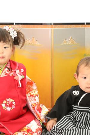 本八幡 市川市 七五三 3歳 前撮り 姉弟写真 記念写真 家族写真