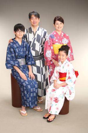 東京都 江戸川区 浴衣撮影 ご家族
