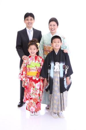 東京都 江戸川区 七五三 7歳 ご家族着物