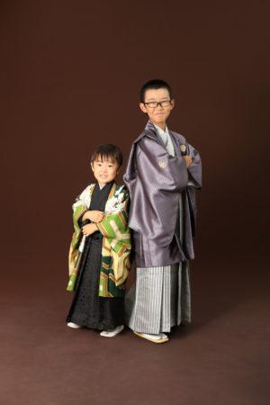 本八幡 市川市 七五三 5歳 五歳 前撮り 兄弟 記念写真 家族写真