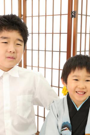 本八幡 市川市 七五三 5歳 五歳 前撮り 兄弟写真 記念写真 家族写真