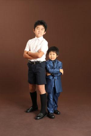 本八幡 市川市 七五三 5歳 五歳 前撮り 兄弟写真 記念写真 家族写真 洋装 タキシード