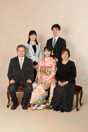 本八幡 市川市 成人式 振袖 前撮り 二十歳 家族写真 記念写真