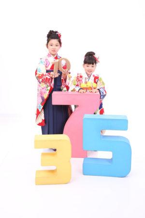 東京都 江戸川区 7歳前撮り 10歳参り 1/2成人式 ご姉妹撮影