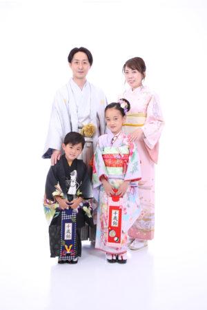 東京都 江戸川区 七五三 7歳・5歳前撮り パパ着物 ママ着物