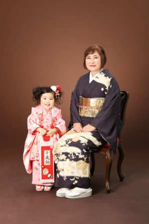 本八幡 市川市 七五三 3歳 三歳 前撮り 家族写真 記念写真 祖母