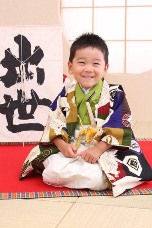東京都 江戸川区 七五三 3歳男の子 前撮り 羽織袴